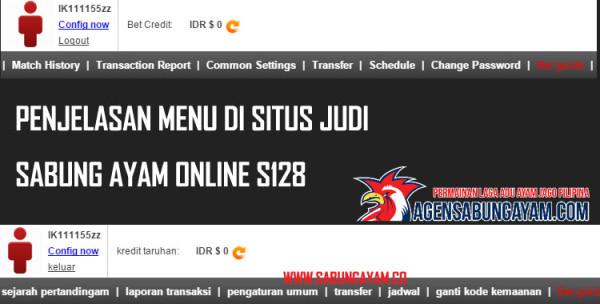 Penjelasan Menu Di Situs Judi Sabung Ayam Online S128