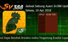 Jadwal Judi Sabung Ayam SV388 10 April 2018