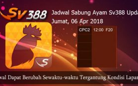 Jadwal Pertandingan Ayam SV388 06 April 2018