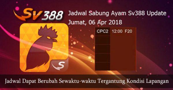 Jadwal Pertandingan Ayam SV388 06 April 2018