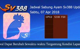Jadwal Resmi Sabung Ayam SV388 07 April 2018