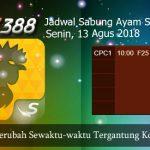 Jadwal Update Sabung Ayam SV388 13 Agustus 2018