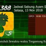 Jadwal Taruhan Sabung Ayam SV388 13 November 2018
