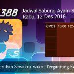 Jadwal Taruhan Sabung Ayam SV388 12 Desember 2018