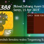 Jadwal Tarung Adu Ayam SV388 15 April 2019