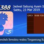 Prediksi Jadwal Sabung Ayam SV388 23 Maret 2019