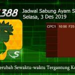 Jadwal Judi Sabung Ayam SV388 3 Desember 2019