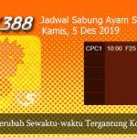 Jadwal Judi Sabung Online SV388 5 Desember 2019