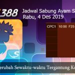 Jadwal Resmi Cockfight SV388 4 Desember 2019