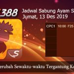 Jadwal Taruhan Sabung Ayam SV388 13 Desember 2019