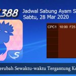 Jadwal Sabong Ayam SV388 28 Maret 2020