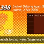 Jadwal Sambung Ayam SV388 2 April 2020