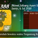 Jadwal Resmi Adu Ayam SV388 6 Juli 2020