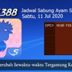 Jadwal Tarung Ayam SV388 11 Juli 2020