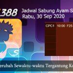 Jadwal Laga Ayam SV388 30 September 2020