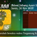 Jadwal Pertandingan Ayam SV388 30 November 2020