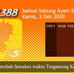 Jadwal Resmi Cockfight SV388 3 Desember 2020